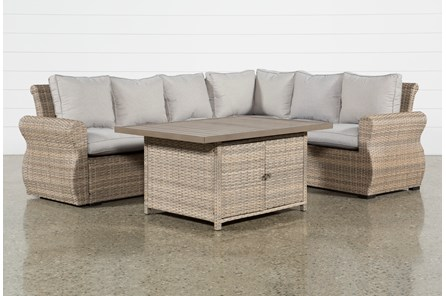 Outdoor Malta Storage Banquette Lounge - Main