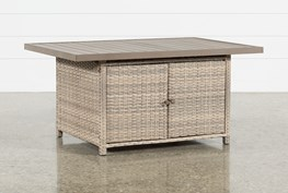 Outdoor Malta Banquette Storage Dining Table