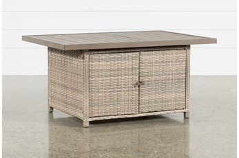 Malta Outdoor Banquette Storage Dining Table
