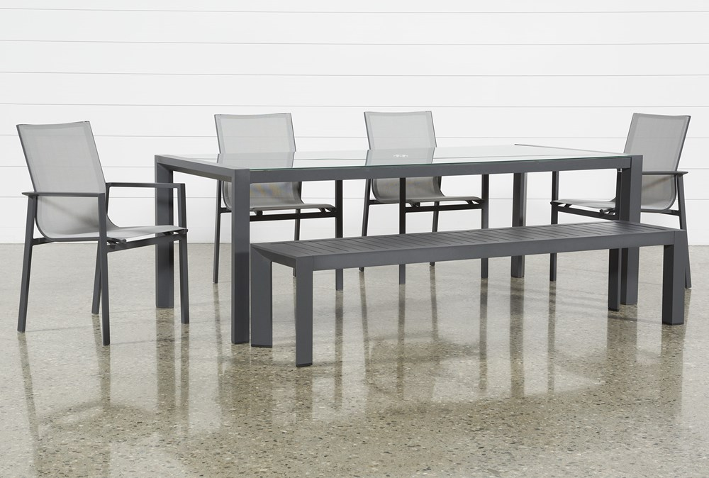Ravelo Outdoor 6 Piece Dining Set With Sling Side Chairs