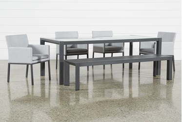 Ravelo Outdoor 6 Piece Dining Set With Upholstered Chairs