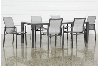 Ravelo Outdoor 7 Piece Dining Set With Sling Side Chairs