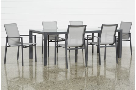 Outdoor Ravelo 7 Piece Dining Set With Sling Side Chairs