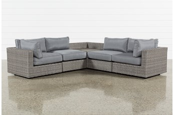 "Outdoor Koro 5 Piece 105"" Sectional With Corner Storage Table"