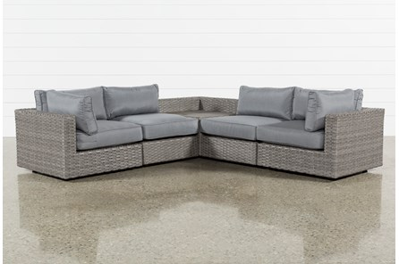 Outdoor Koro 5 Piece Sectional With Corner Storage Table