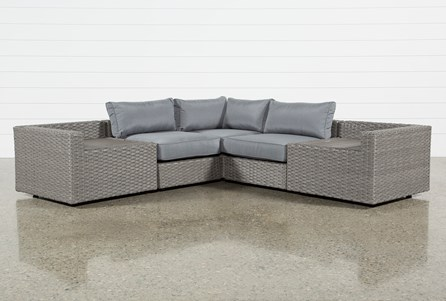 Outdoor Koro 5 Piece Sectional With 2 Storage Tables