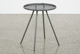 Outdoor Grey Metal Handle Table