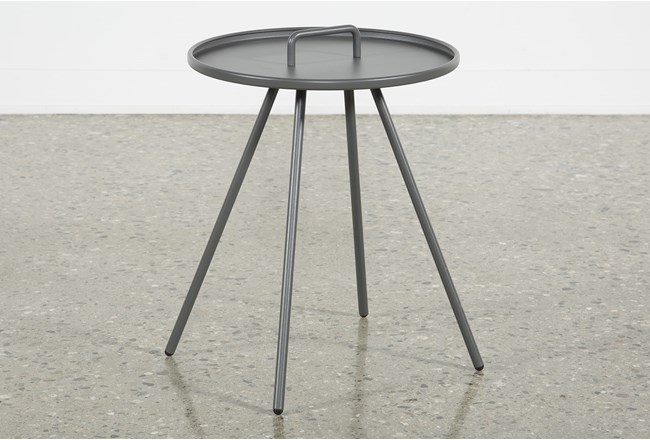 Outdoor Grey Metal Handle Table  - 360