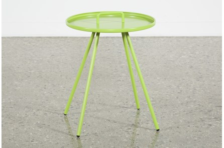 Outdoor Green Metal Handle Table