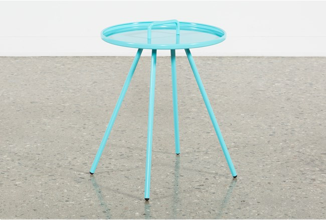 Outdoor Blue Metal Handle Table - 360