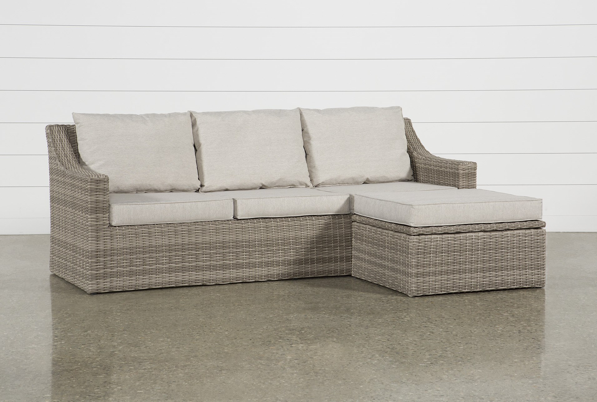 Outdoor Positano Reversible Sofa Chaise With Storage Ottoman Qty 1 Has Been Successfully Added To Your Cart