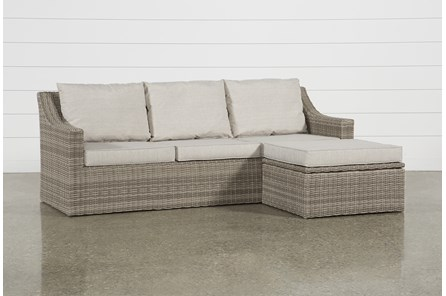 Outdoor Positano Reversible Sofa Chaise With Storage Ottoman