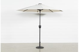 Market Outdoor Beige Umbrella With Lights And Bluetooth