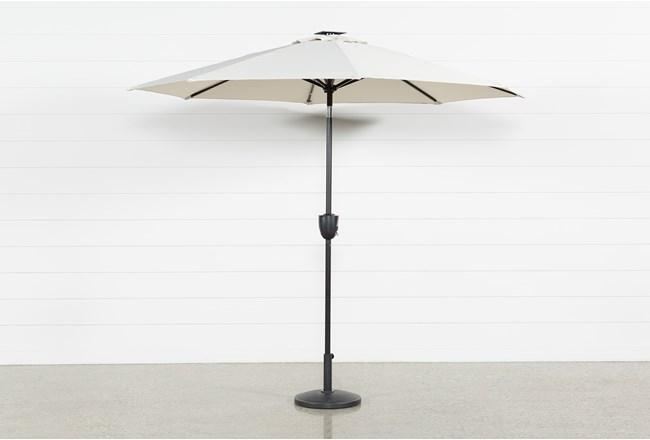 Market Outdoor Beige Umbrella With Lights And Bluetooth - 360