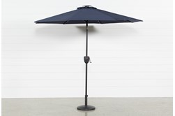 Market Outdoor Navy Umbrella With Lights And Bluetooth