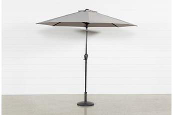 Market Outdoor Grey Umbrella