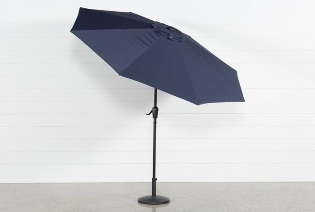 Outdoor Market Navy Umbrella - 360