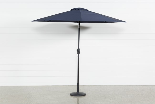 Market Outdoor Navy Umbrella - 360