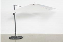 Cantilever Outdoor Beige Umbrella With Lights And Speaker