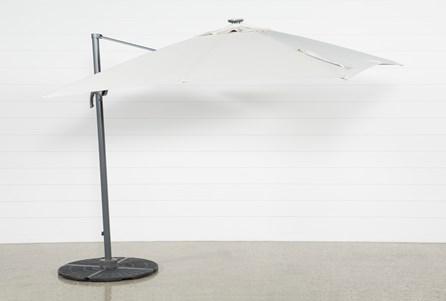 Outdoor Cantilever Beige Umbrella With Lights And Speaker