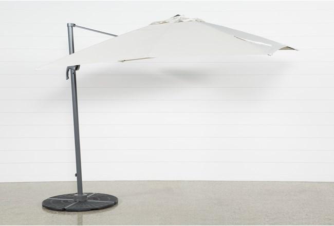 Cantilever Outdoor Beige Umbrella  - 360