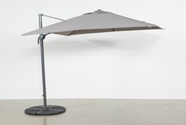 Outdoor Cantilever Grey Umbrella