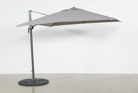Outdoor Cantilever Grey Umbrella
