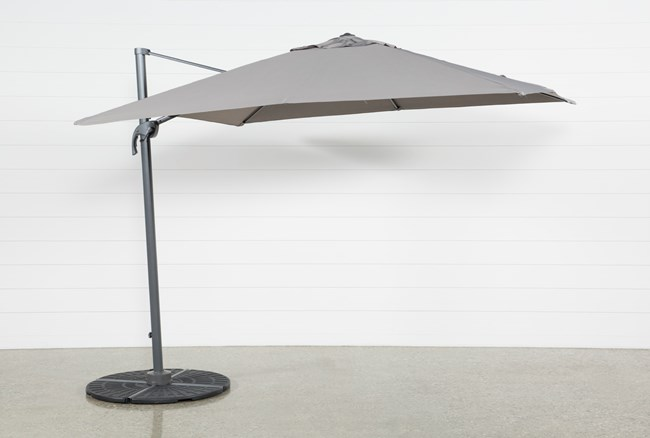 Outdoor Cantilever Grey Umbrella - 360