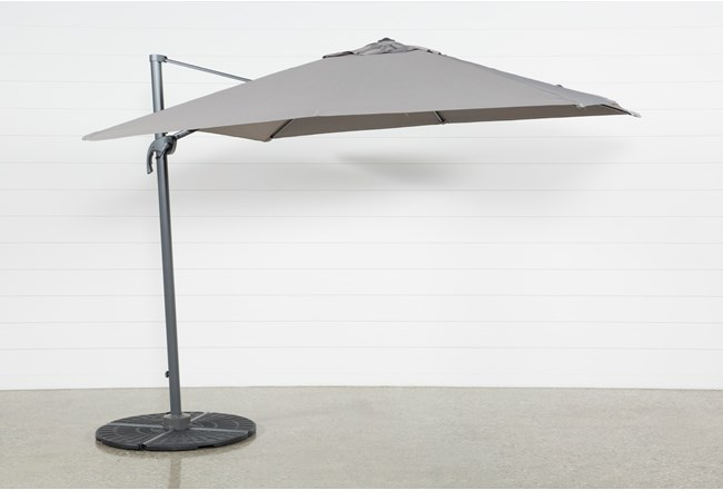 Cantilever Outdoor Grey Umbrella  - 360
