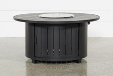 Wood Grain Outdoor Round Firepit