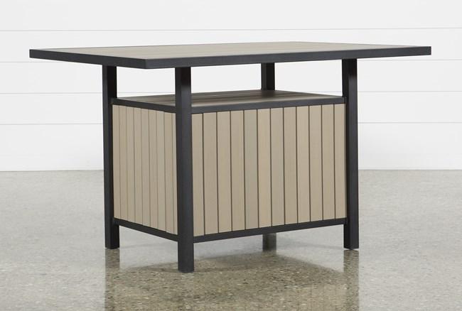 Sorrento Outdoor Storage Counter Table - 360