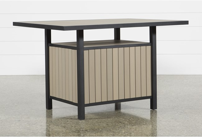 Sorrento Outdoor Storage Counter Table - 360