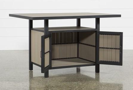 Outdoor Sorrento Storage Counter Table