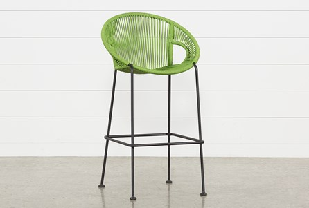 Outdoor Acapulco Green Rope Barstool