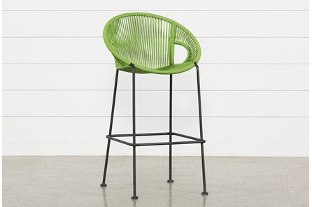 Outdoor Acapulco Green Rope Bar Stool