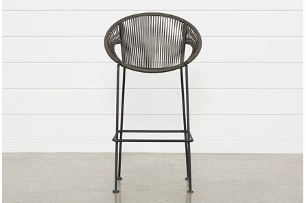 Outdoor Acapulco Grey Rope Bar Stool