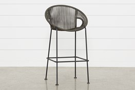 Outdoor Acapulco Grey Rope Barstool
