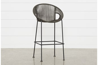 "Outdoor Acapulco Grey Rope 44"" Bar Stool"