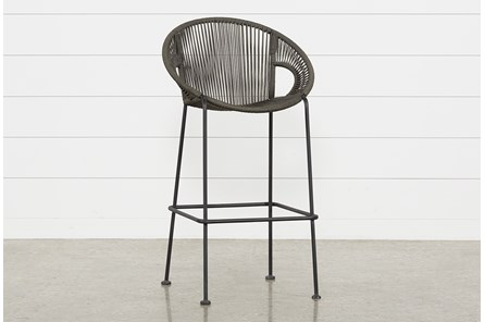 Outdoor Acapulco Grey Rope Bar Stool - Main