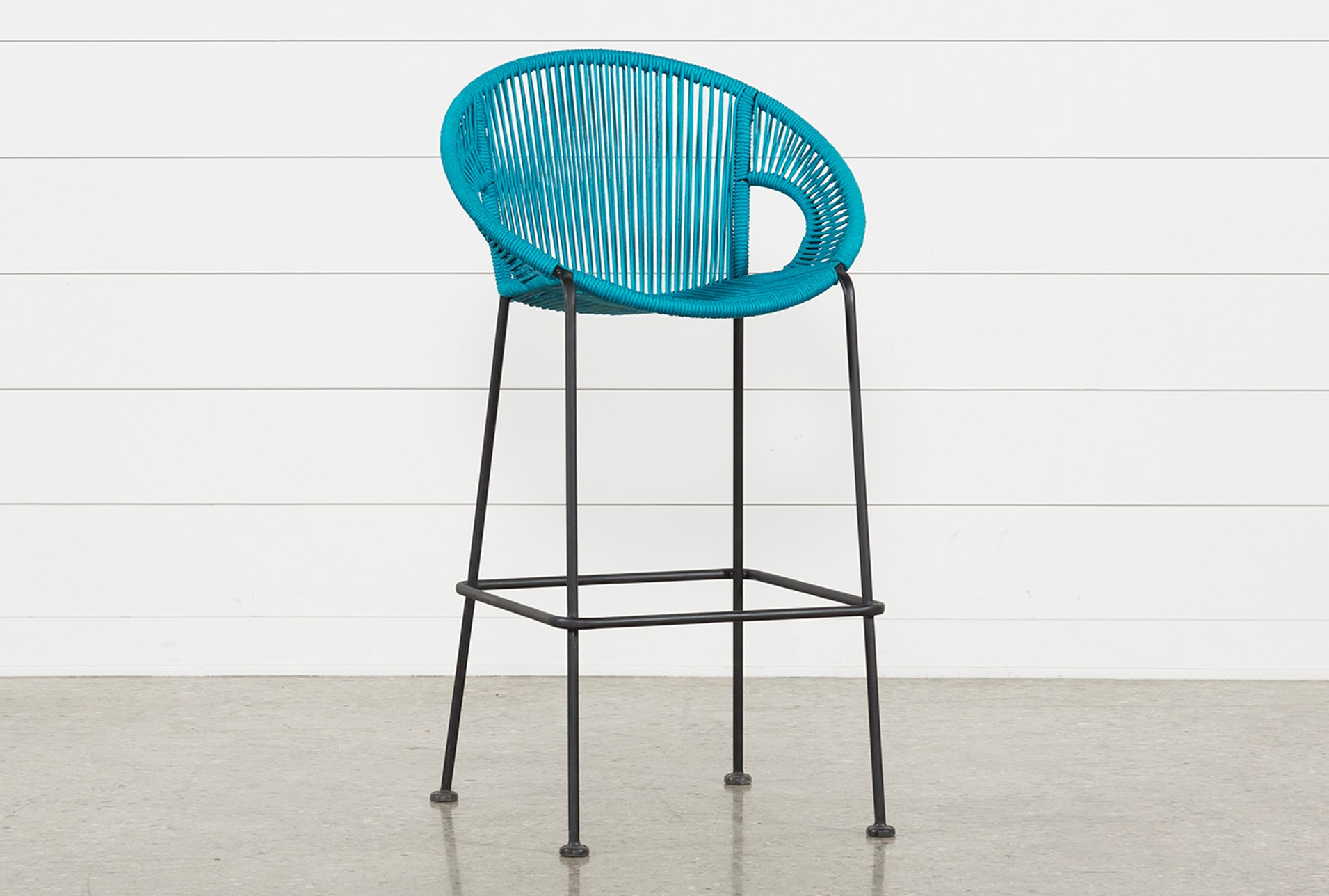 Outdoor Acapulco Turquoise Rope Bar Stool Qty 1 Has Been Successfully Added To Your Cart