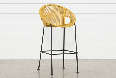 Outdoor Acapulco Yellow Rope Barstool