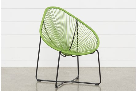 Outdoor Acapulco Green Rope Chair