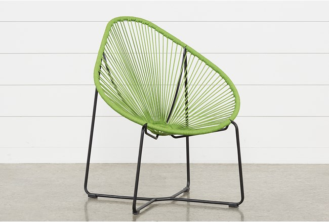 Outdoor Acapulco Green Rope Chair - 360
