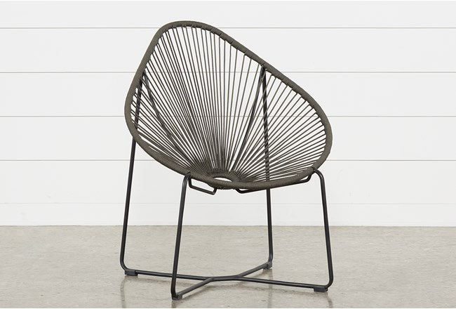 Outdoor Acapulco Grey Rope Chair Living Spaces