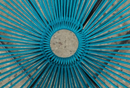 Outdoor Acapulco Turquoise Rope Chair