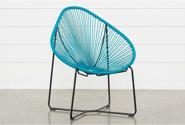 Outdoor Acapulco Turquoise Rope Chair - 360