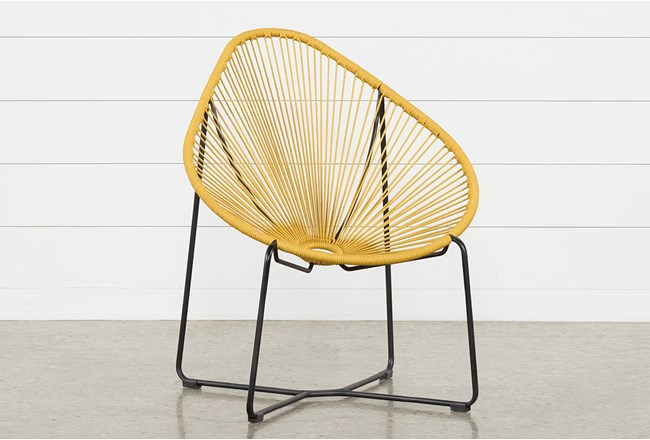 Outdoor Acapulco Yellow Rope Chair - 360