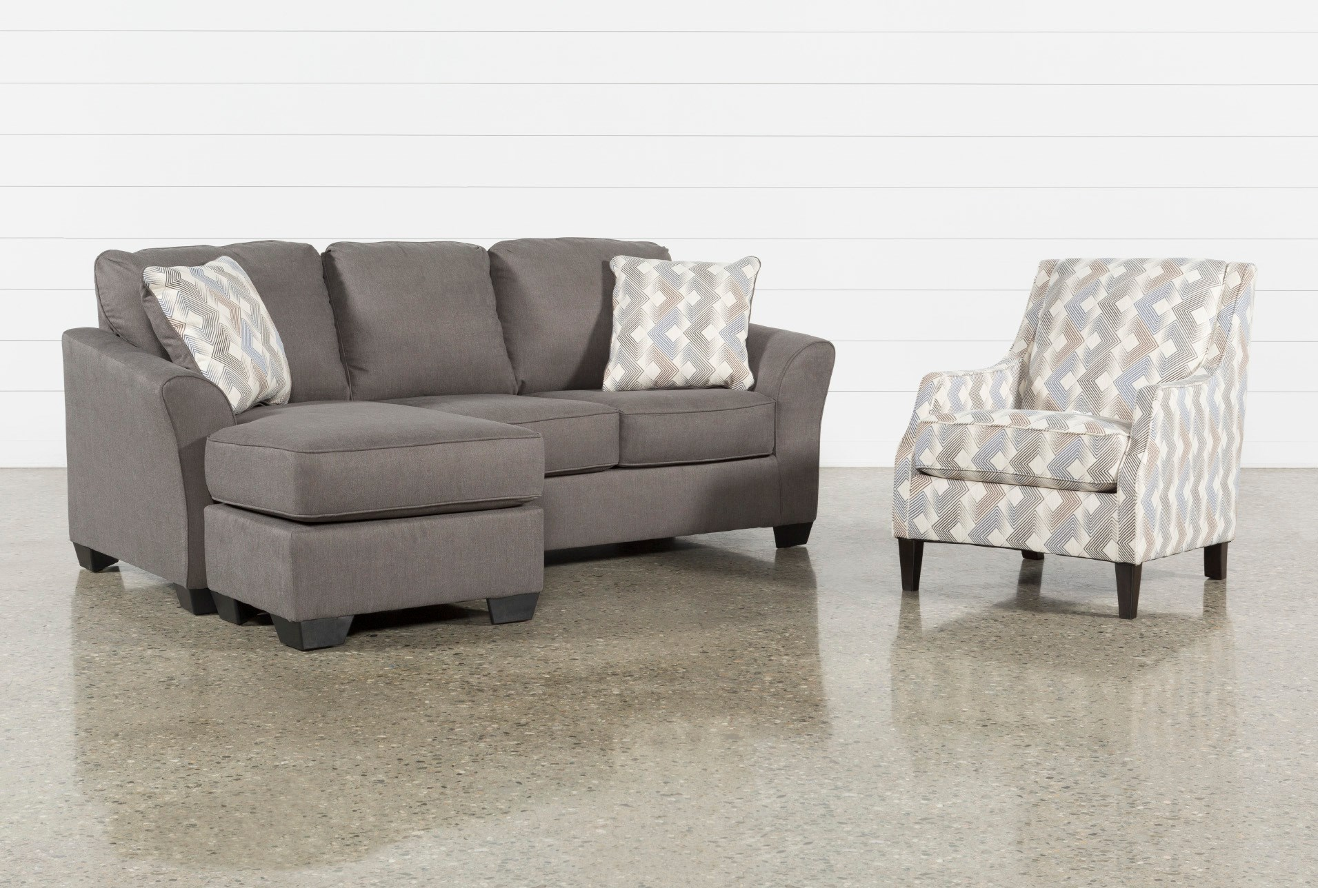 Tucker 2 Piece Living Room Set With Accent Chair