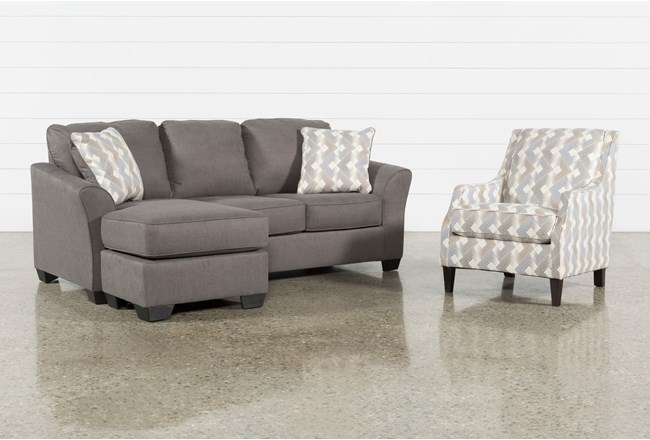 Tucker 2 Piece Living Room Set With Accent Chair - 360
