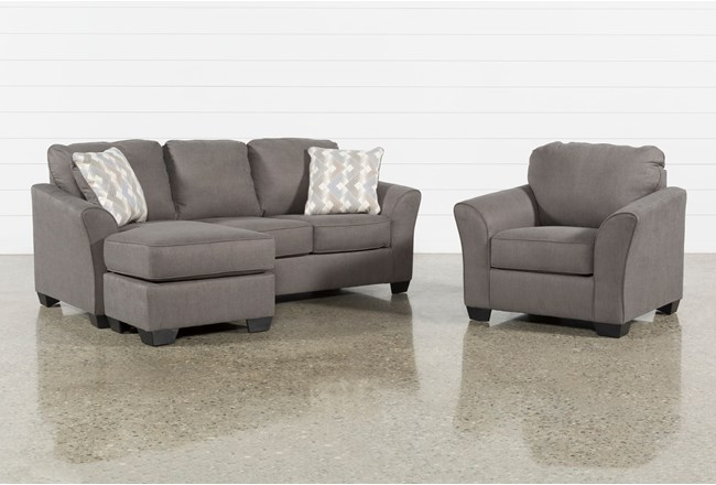 Tucker 2 Piece Living Room Set With Arm Chair - 360